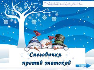 Снеговички против знатоков