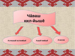 Чăваш кил-йышĕ Аслашшĕ-асламăшĕ Ашшĕ-амăшĕ Ачисем