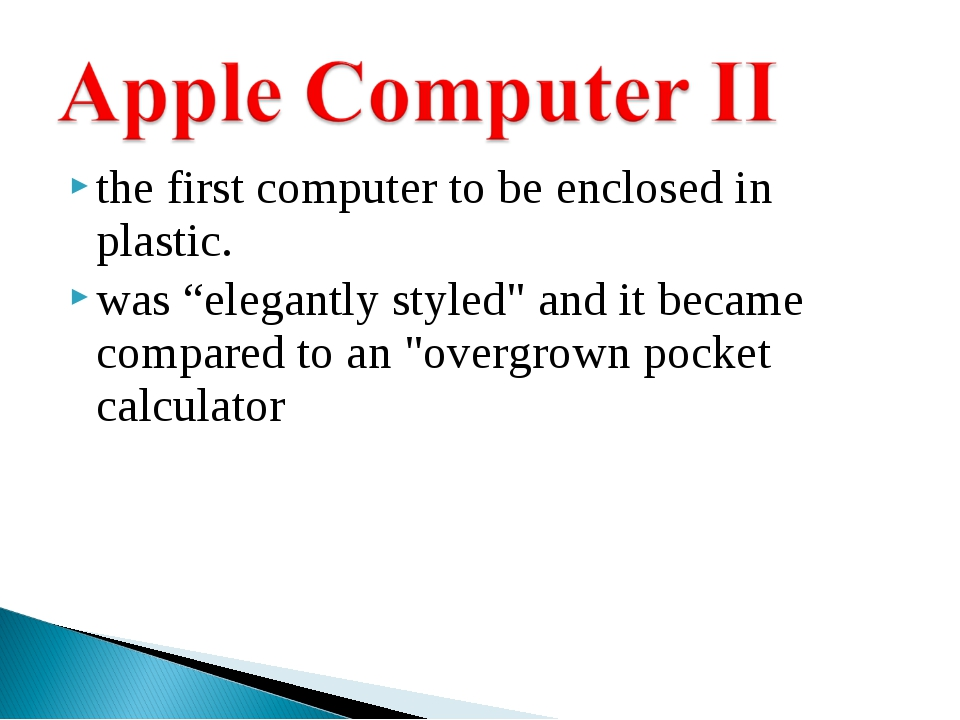 "the first computer to be enclosed in plastic. was ""elegantly styled"" and it b..."