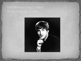 John Winston Ono Lennon 09.10.1940-08.12.1980