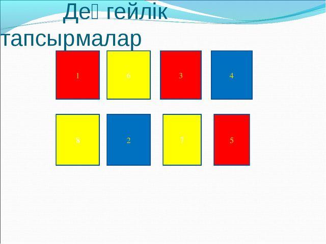 Деңгейлік тапсырмалар 1 2 3 4 5 6 7 8