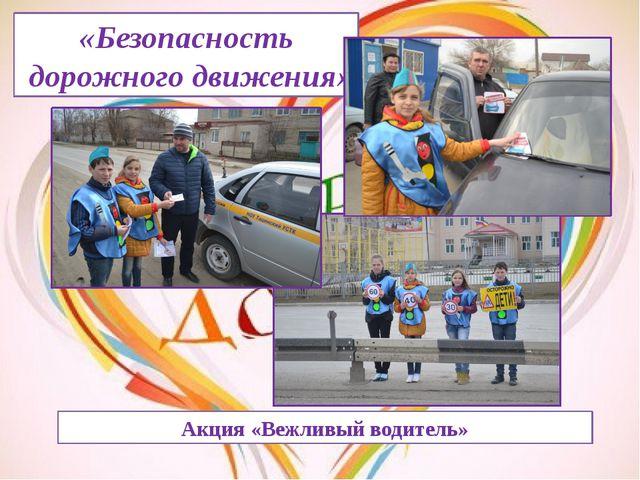 «Безопасность дорожного движения» Акция «Вежливый водитель»