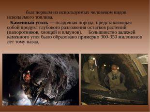 У́голь был первым из используемых человеком видов ископаемого топлива. Камен