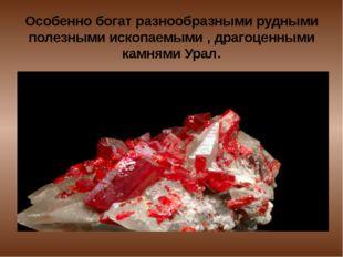 Особенно богат разнообразными рудными полезными ископаемыми , драгоценными ка