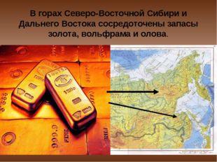 В горах Северо-Восточной Сибири и Дальнего Востока сосредоточены запасы золот