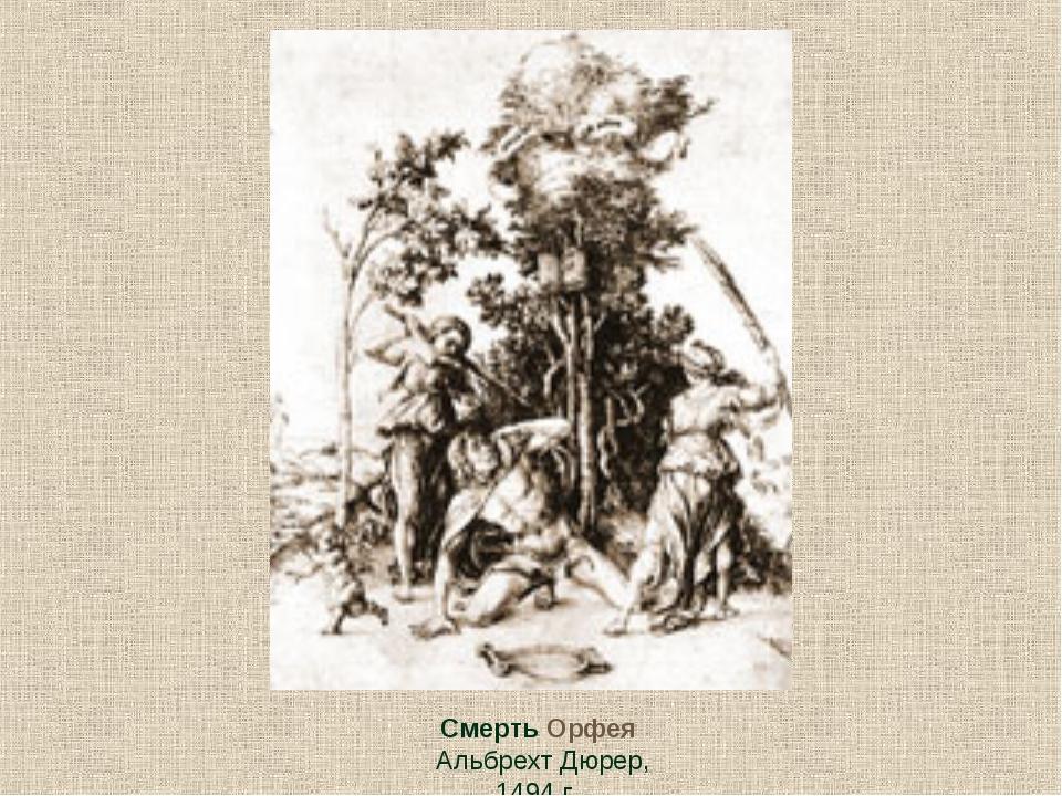 Смерть Орфея Альбрехт Дюрер, 1494 г
