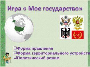Форма правления Форма территориального устройства Политический режим