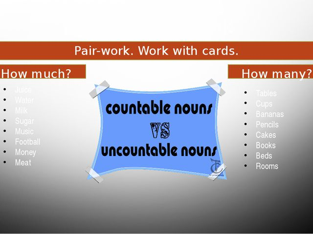 Food and drink Pair-work. Work with cards. How much? How many? Juice Water Mi...
