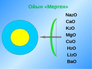 Ойын «Мерген» Na2O CaO K2O MgO CuO H2O Li2O BaO