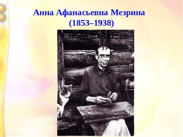 Анна Афанасьевна Мезрина (1853–1938)