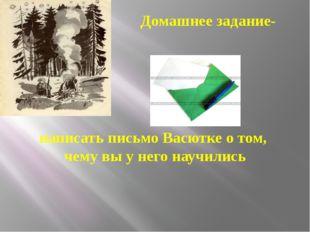 Домашнее задание- написать письмо Васютке о том, чему вы у него научились