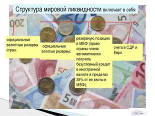 Структура мировой ликвидности включает в себя официальные валютные резервы ст