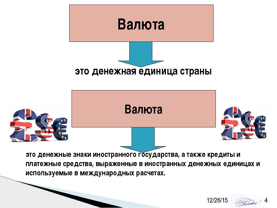 Валюта это денежная единица страны Валюта это денежные знаки иностранного гос...