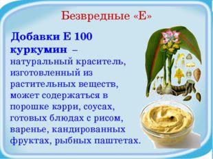 Безвредные «Е» Добавки Е 100 куркумин – натуральный краситель, изготовленный