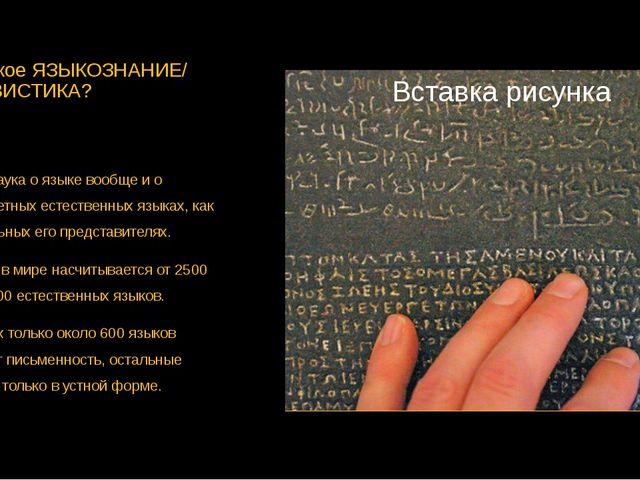 Что такое ЯЗЫКОЗНАНИЕ/ ЛИНГВИСТИКА? Это наука о языке вообще и о конкретных е...