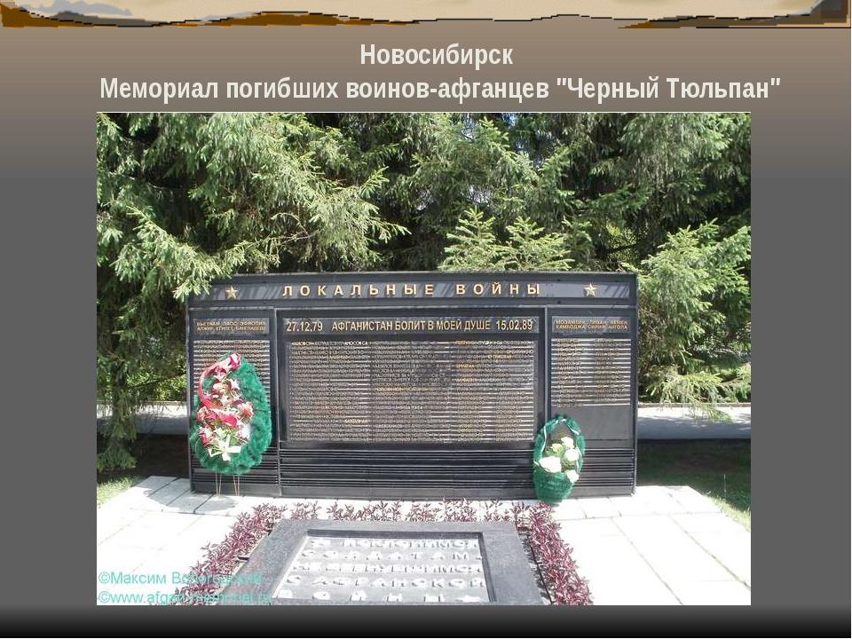 """Новосибирск Мемориал погибших воинов-афганцев """"Черный Тюльпан"""""""