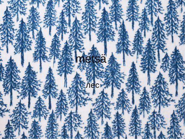 metsä лес