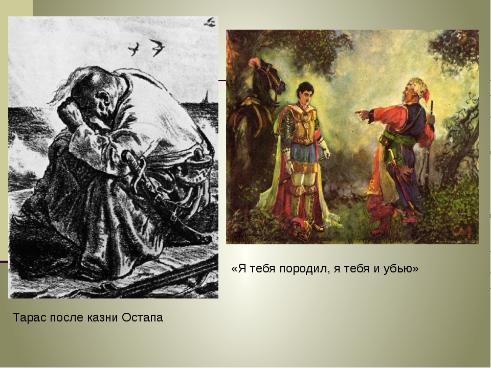 Тарас после казни Остапа «Я тебя породил, я тебя и убью»
