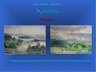 Живопись Акварель Виды искусства материалы Материалы акварельной живописи htt