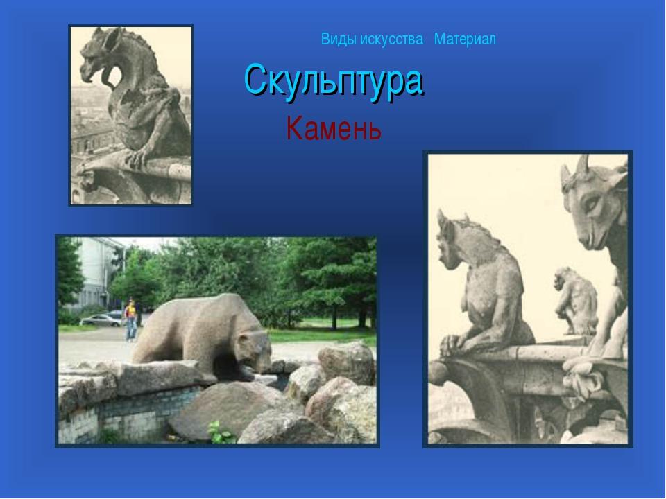 Скульптура Камень Виды искусства Материал