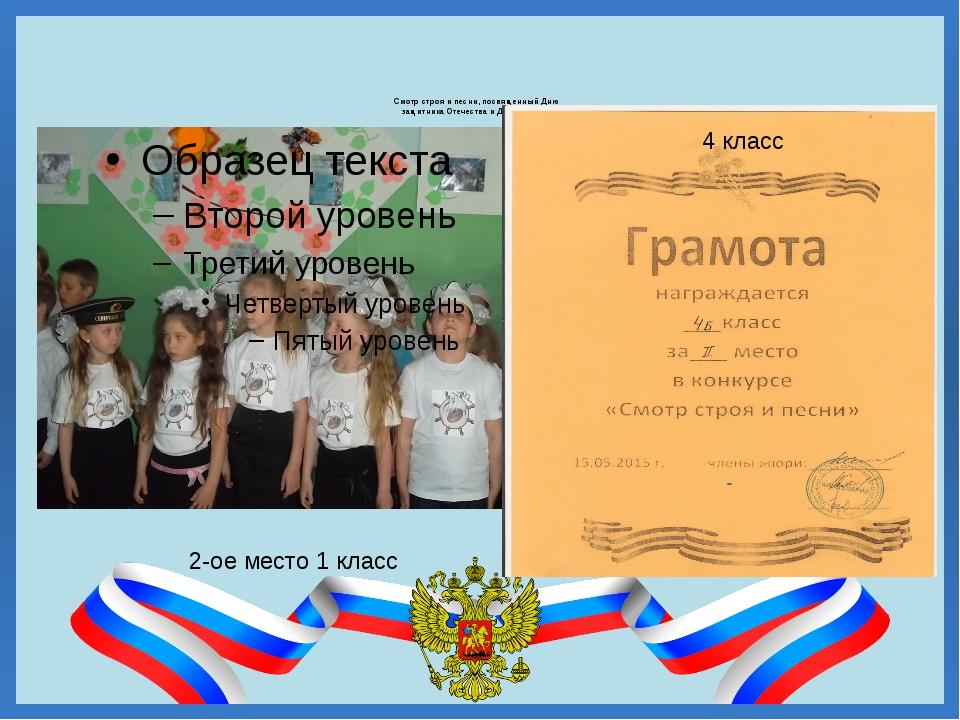 Смотр строя и песни, посвященный Дню защитника Отечества и Дню Победы 2-ое м...
