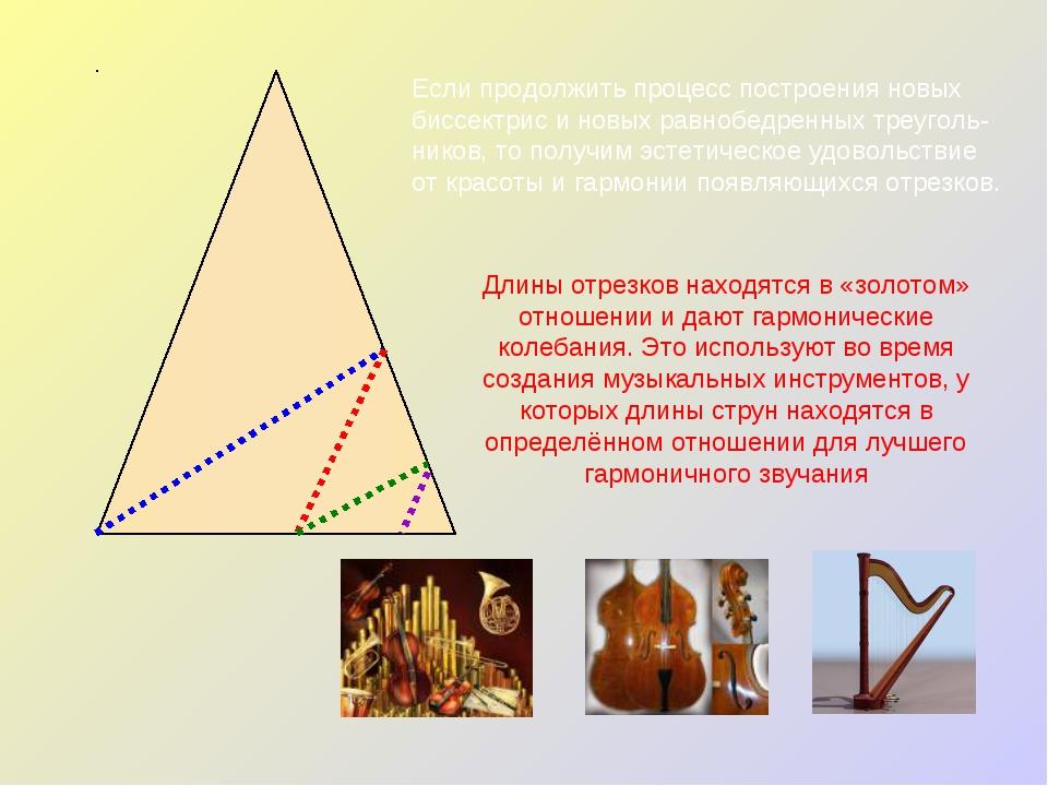 Если продолжить процесс построения новых биссектрис и новых равнобедренных тр...