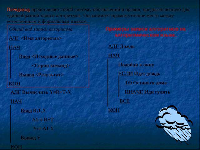 Псевдокод представляет собой систему обозначений и правил, предназначенную дл...