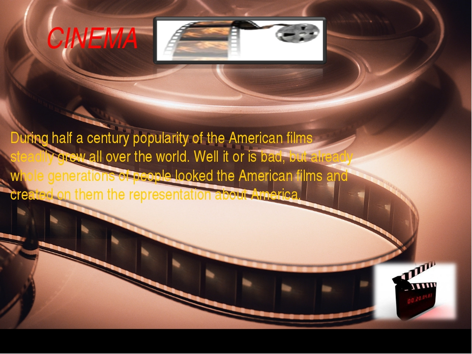 During half a century popularity of the American films steadily grew all over...