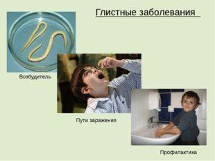 Глистные заболевания Возбудитель Пути заражения Профилактика