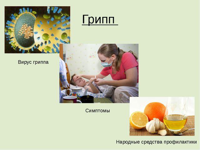Грипп Вирус гриппа Симптомы Народные средства профилактики