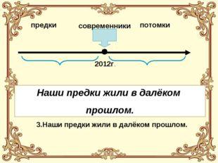 предки современники потомки 2012г. 1. Наши предки живут в далёком будущем. 2.