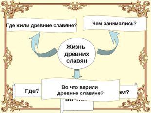Жизнь древних славян Где? Чем? Во что? Где жили древние славяне? Чем занимали