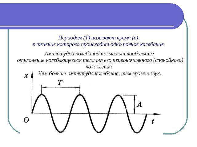 Периодом (Т) называют время (с), в течение которого происходит одно полное ко...