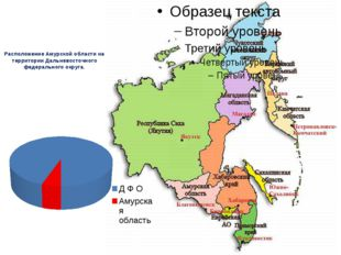 Расположение Амурской области на территории Дальневосточного федерального окр