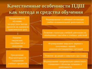Качественные особенности ПДШ как метода и средства обучения Направленность об