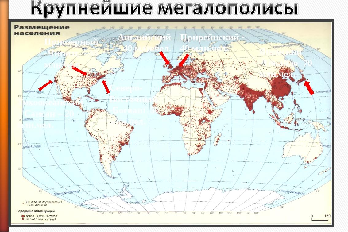 Японский -Токайдо 70 млн.чел. Северо-Восточный -Босваш 50 млн.чел. Приозерный...