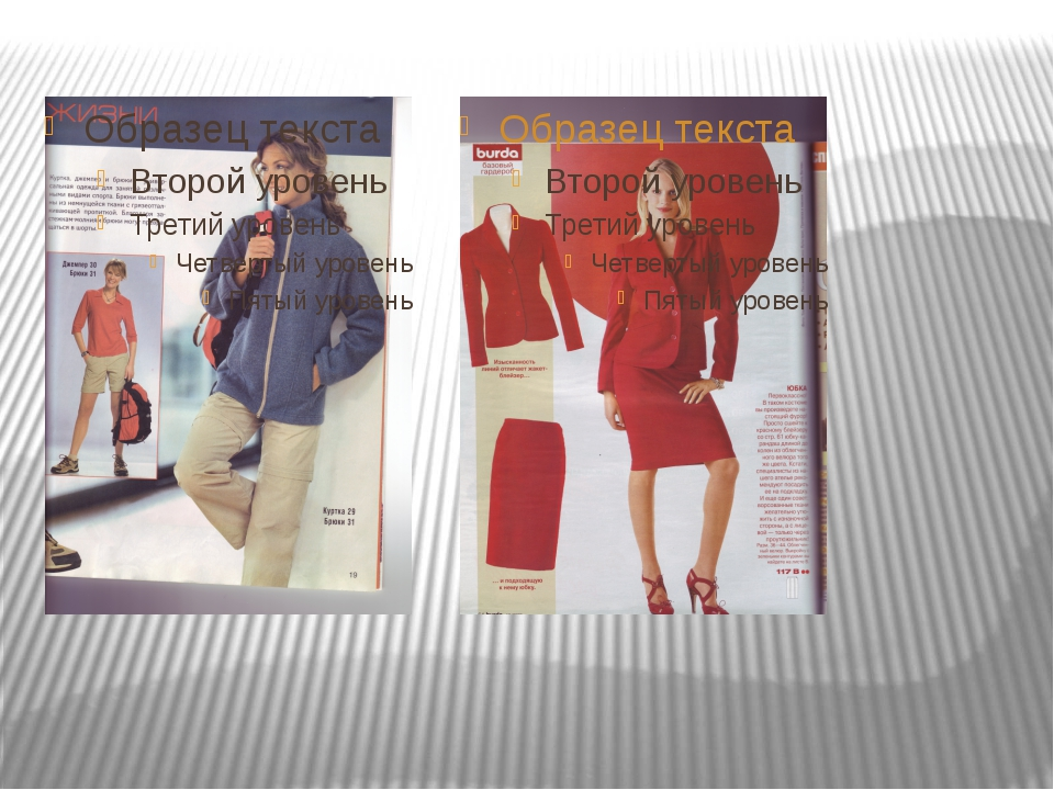 В презентации использованы: Журналы мод «Бурда» №4/2004г.,№12/ 2005г., издате...