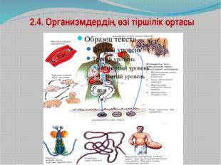 2.4. Организмдердің өзі тіршілік ортасы