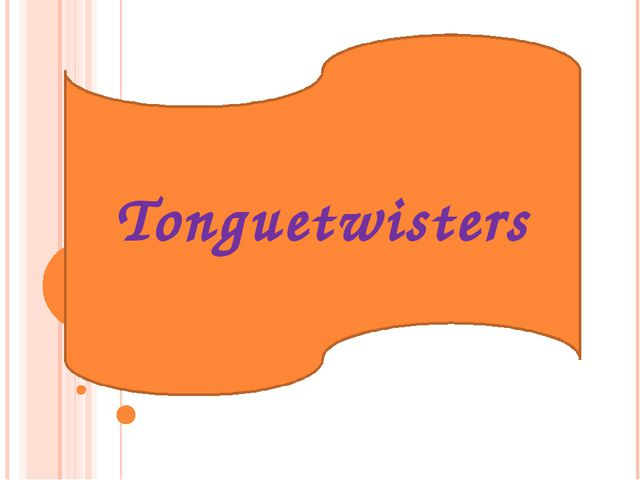 Tonguetwisters