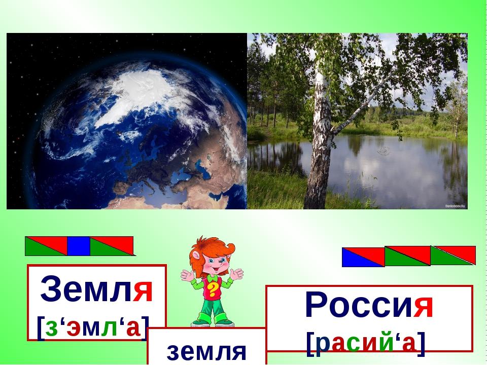 Земля [з'эмл'а], Россия [расий'а] земля