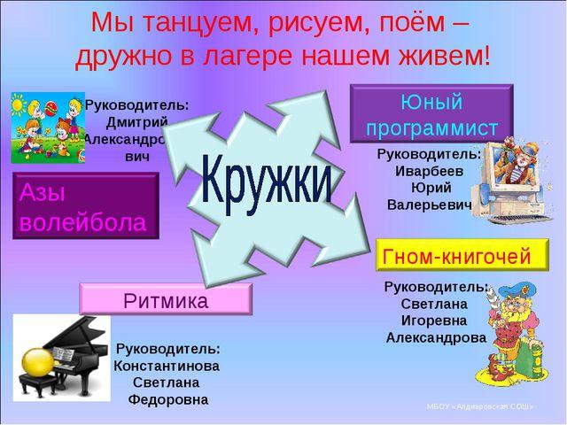 Руководитель: Светлана Игоревна Александрова Руководитель: Константинова Свет...