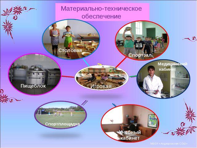 Учебные кабинеты Материально-техническое обеспечение МБОУ «Алдиаровская СОШ»...