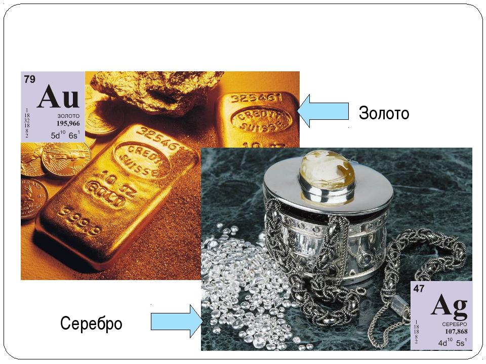 Золото Серебро ВЕЩЕСТВА МЕТАЛЛЫ