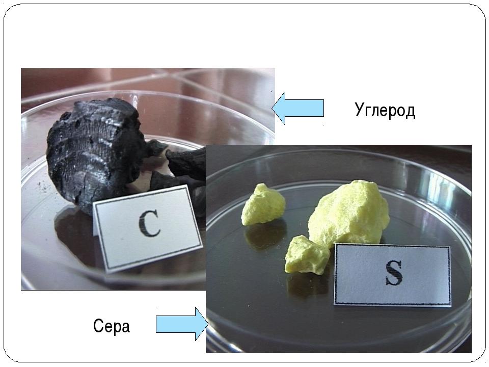 Углерод Сера ВЕЩЕСТВА НЕМЕТАЛЛЫ
