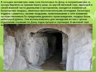 В четырех километрах ниже села Белогорья по Дону, в полукилометрах от хутора