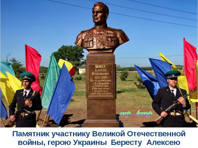 Памятник участнику Великой Отечественной войны, герою Украины Бересту Алексею...