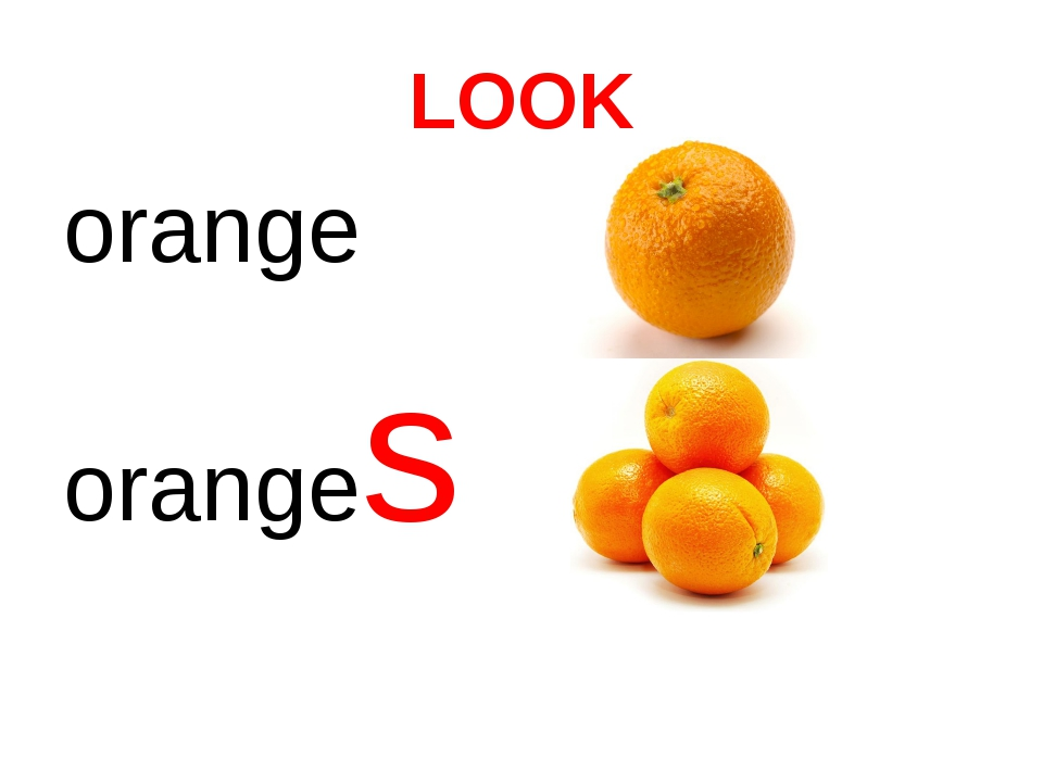 LOOK orange oranges