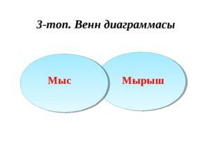 3-топ. Венн диаграммасы Мырыш Мыс