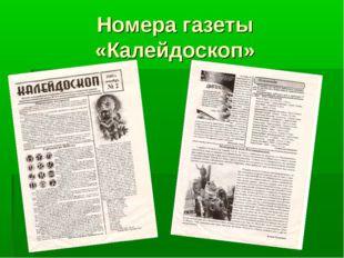 Номера газеты «Калейдоскоп»