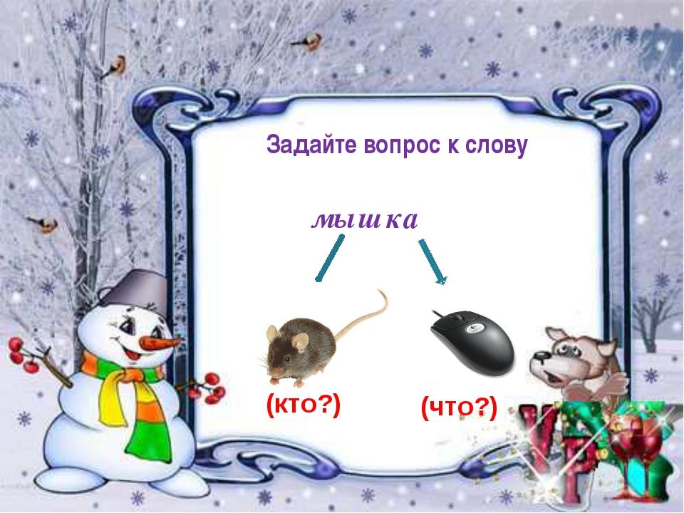 мышка Задайте вопрос к слову (кто?) (что?)
